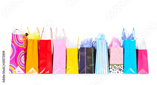 Row of shopping bags - 28372804