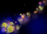fond Lumière Nocturne Bleu