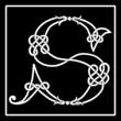 Celtic knot-work capital letter S