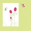 Spring summer floral greeting card