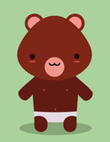 cute teddy bear kawaii style poster