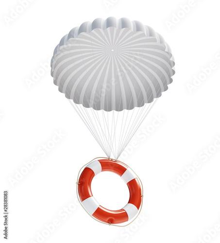 Leinwandbild Motiv Life Buoy at parachute