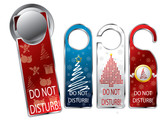 Christmas design privacy labels poster