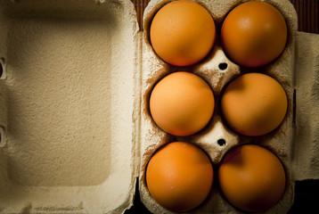 conjunto de huevos organicos