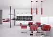 Moderne Küche Interior 3d render