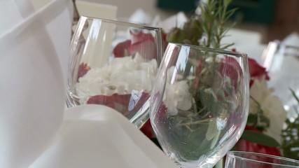 Tischdekoration, Restaurant