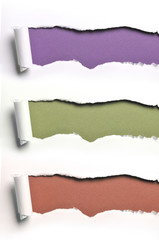 ripped paper in various colors