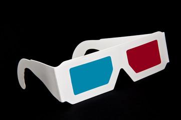 3D glasses on the black background
