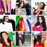Fototapety Shopping collage