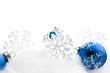 Schneeflocken Karte Weihnachten Weihnachtskugeln
