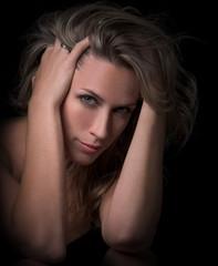 Beautiful, sensual woman portrait
