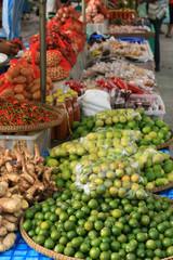 Street market stall asia