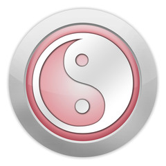 "Light Colored Icon (Red) ""Yin and Yang"""