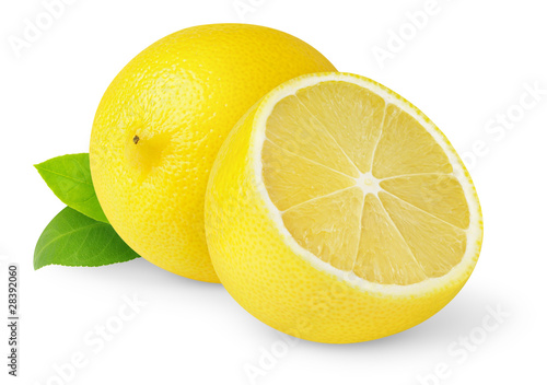 Lemons isolated on white