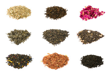 Green, black, floral and herbal tea