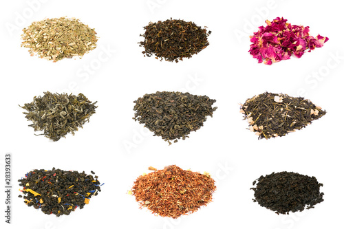 Green, black, floral and herbal tea
