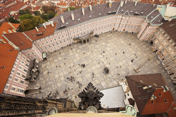 Prague Castle Courtyard View