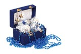christmas decoration in blue box