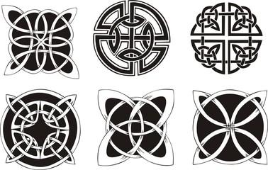 Six miscellaneous celtic knot dingbat designs