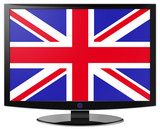 Flatscreen With United Kingdom Flag