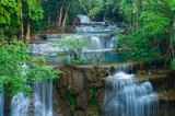 Fototapety Deep forest Waterfall in Kanchanaburi, Thailand