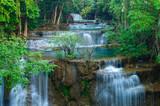 Fototapety Deep forest Waterfall in Kanchanaburi, Thailand