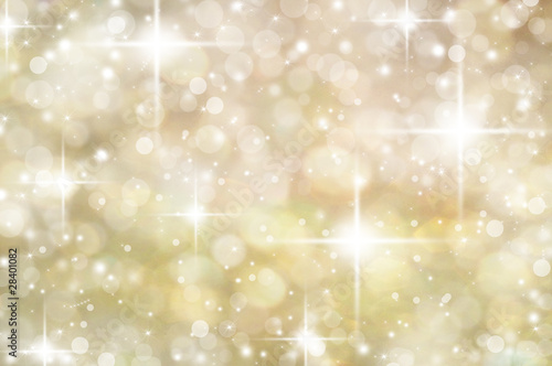 Gold Christmas abstract bokeh