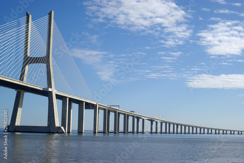 Vasco da Gama bridge in Lisbon, Portugal