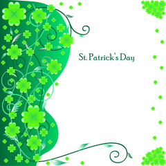 St. Patrick's Day greeting card, vector illustration