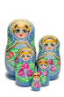Blue russian nesting doll