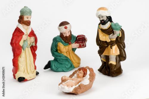 Reyes Magos , niño Dios