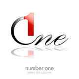 Logo one, number and letter  # vector
