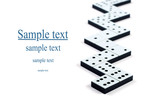 Domino pieces in a line or zigzag on white background poster