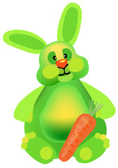 New year green rabbit