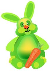 New year green rabbit