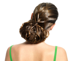 Young woman modern creative hairstyle