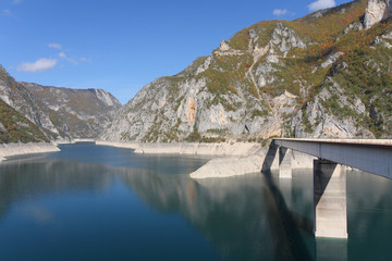 Bridge over barrage Pivsko lake