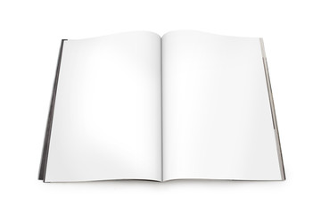 Magazine Spread with Blank Pages