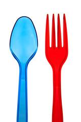 Disposable spoon, plug