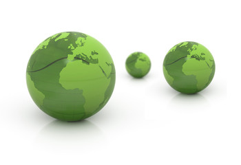 World globes blue illustration background