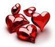 Quadro Cuori di vetro rossi