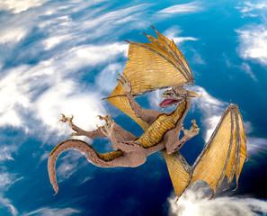 dragon blue sky fall
