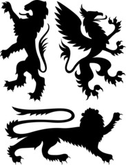 heraldic classic royal crest griffin
