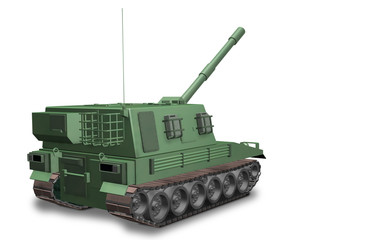 Fictitious non-existent self-propelled artillery