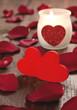 Zwei Herzen und Kerze