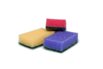 cleaning sponge on a white background
