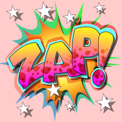 A Zap Comic Book Illustration