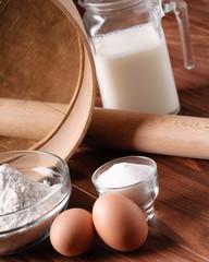 ingredients to make a cake