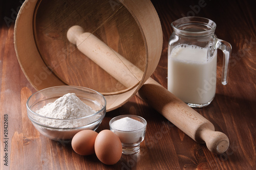 ingredients to make a cake