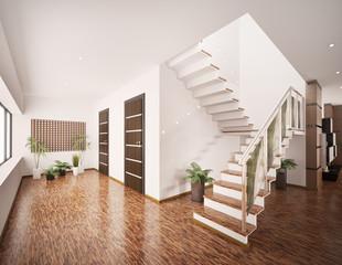 Flur mit Treppe Interior 3d render